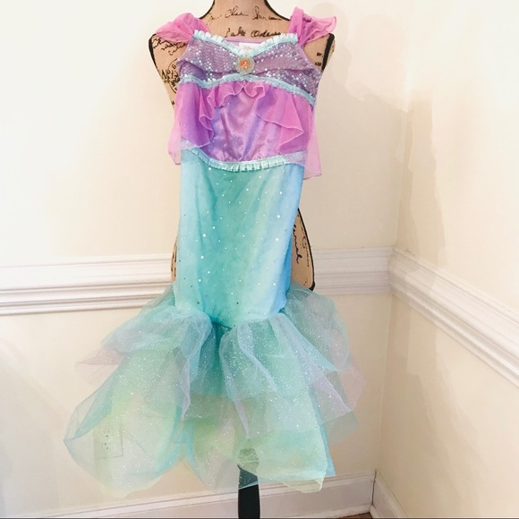 Disney Costumes | 78 Girls Ariel Costume Mermaid Dress Full Length ...